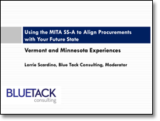 Using the MITA SS-A to Align Procurements with Your Future State